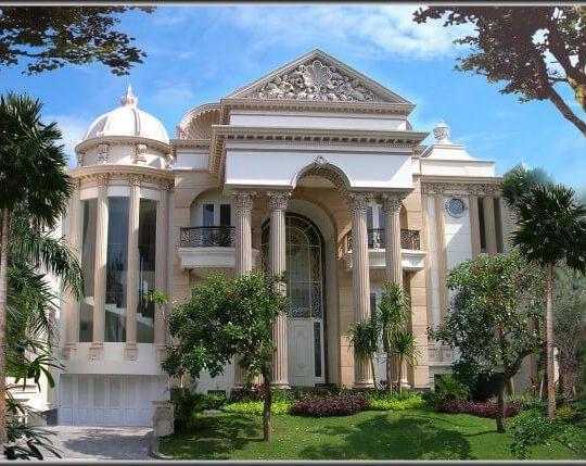 Desain Rumah Mewah 2 Lantai Gaya Mediterania   BangunRumah.com